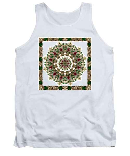 Ruby And Emerald Kaleidoscope Tank Top