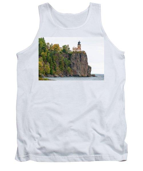 Split Rock Lighthouse Tank Top by Steve Stuller