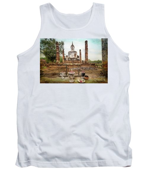 Tank Top featuring the photograph Sukhothai Buddha by Adrian Evans