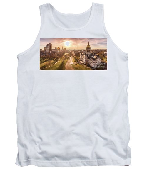 Sunrise In Hartford Connecticut Tank Top by Petr Hejl