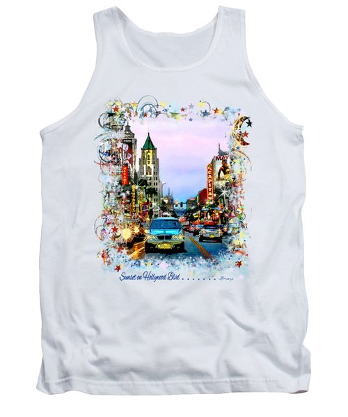 Sunset On Hollywood Blvd Tank Top by Jennie Breeze
