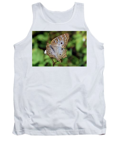 White Peacock Butterfly Tank Top
