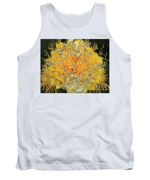 Yellow Dahlia Tank Top