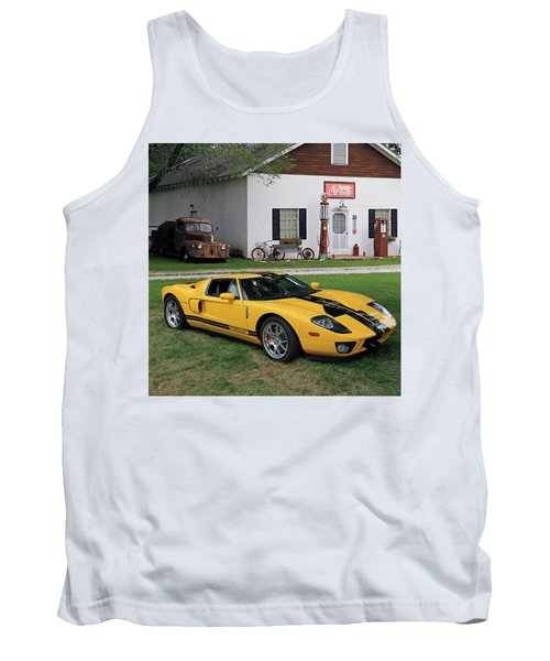 Tank Top featuring the photograph 2005 Ford Gt by Christopher McKenzie