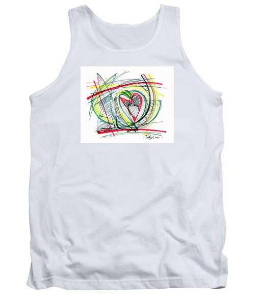 2010 Abstract Drawing Eighteen Tank Top by Lynne Taetzsch