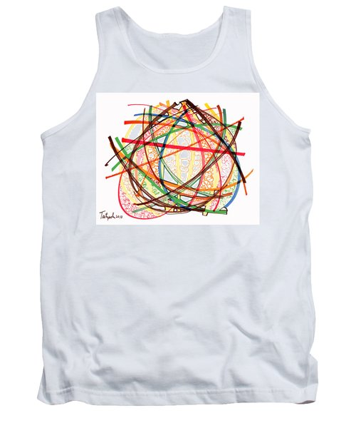 2010 Abstract Drawing Fifteen Tank Top by Lynne Taetzsch