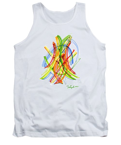 2010 Abstract Drawing Seven Tank Top by Lynne Taetzsch
