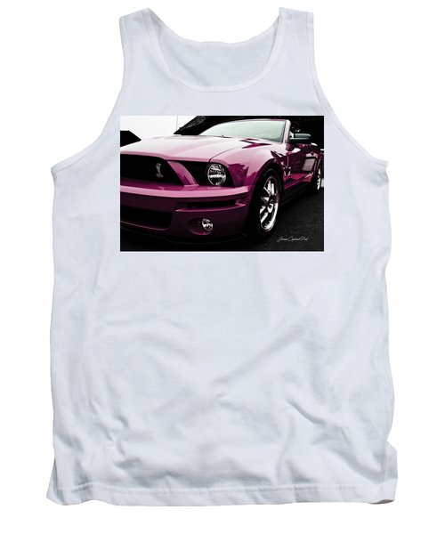 Tank Top featuring the photograph 2010 Pink Ford Cobra Mustang Gt 500 by Joann Copeland-Paul