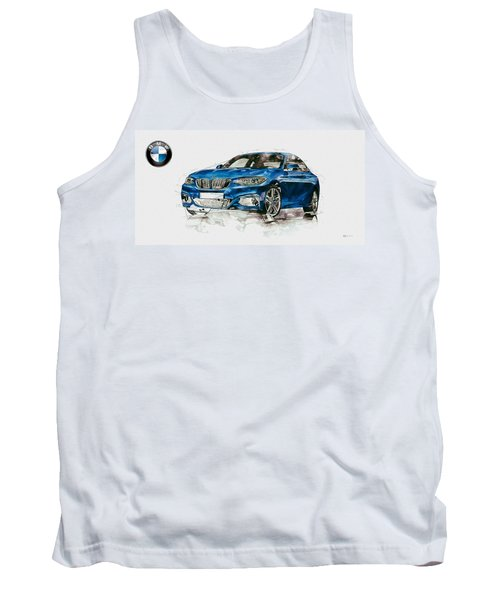 2014 B M W 2 Series Coupe With 3d Badge Tank Top