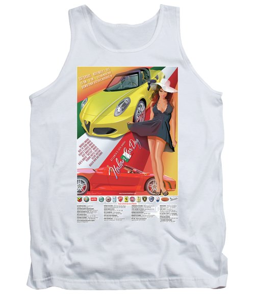 2015 Atlanta Italian Car Day Poster Tank Top