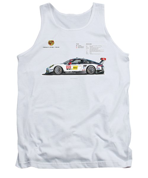 2016 911gt3r Rsr Poster Tank Top
