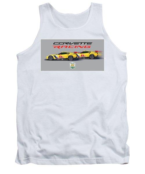 2016 Daytona 24 Hour Corvette Poster Tank Top by Alain Jamar