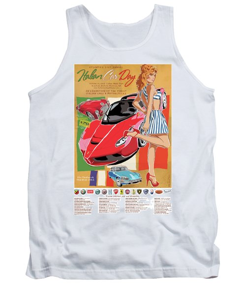 2017 Atlanta Italian Car Day Poster Tank Top
