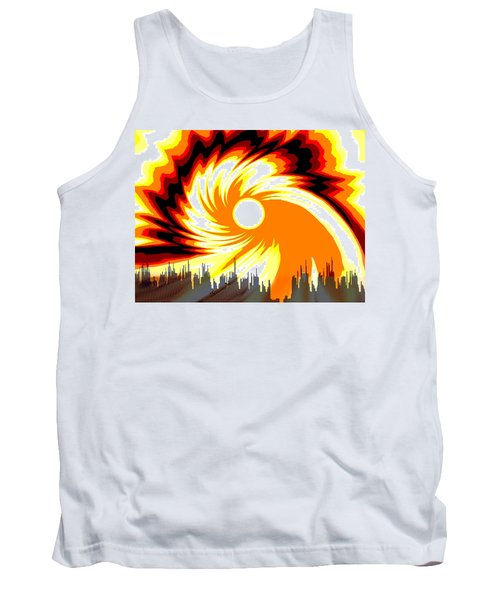 205 - Poster Climate Change  2 ... Burning Summer  Sun  Tank Top