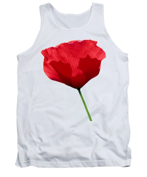 Poppy Flower Tank Top
