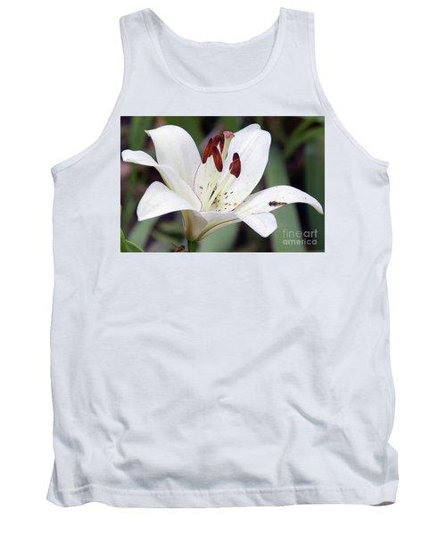 White Lily Tank Top by Elvira Ladocki