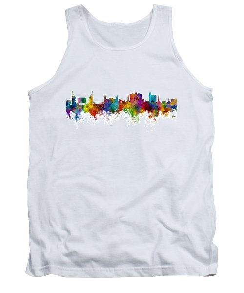 Fayetteville Arkansas Skyline Tank Top by Michael Tompsett