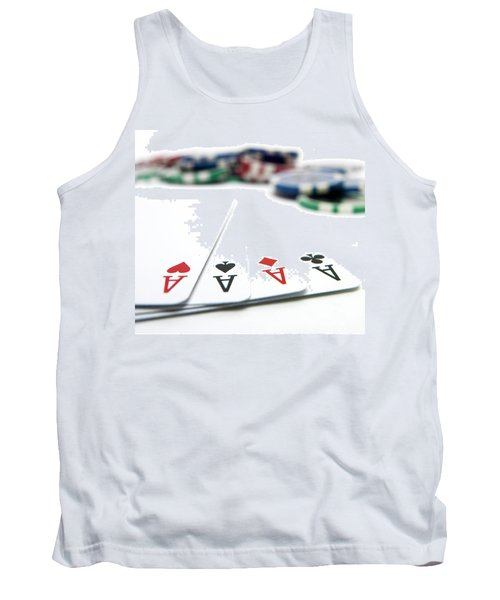 Four Aces And Gambling Tank Top