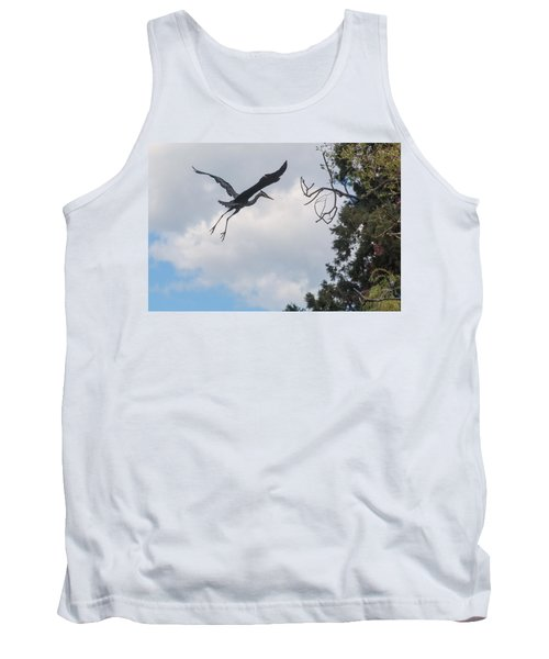 Great Blue Heron Tank Top by Keith Boone
