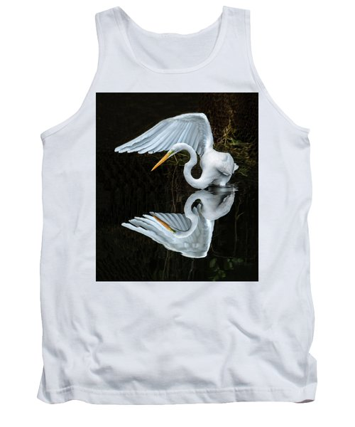 Great Egret Reflection Tank Top