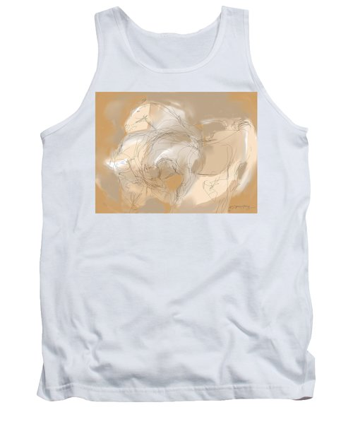 3 Horses Tank Top by Mary Armstrong