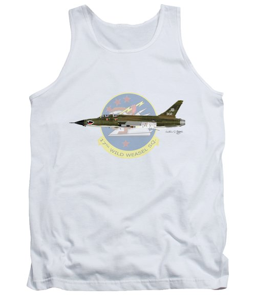 Republic F-105g Wild Weasel 17ww Tank Top