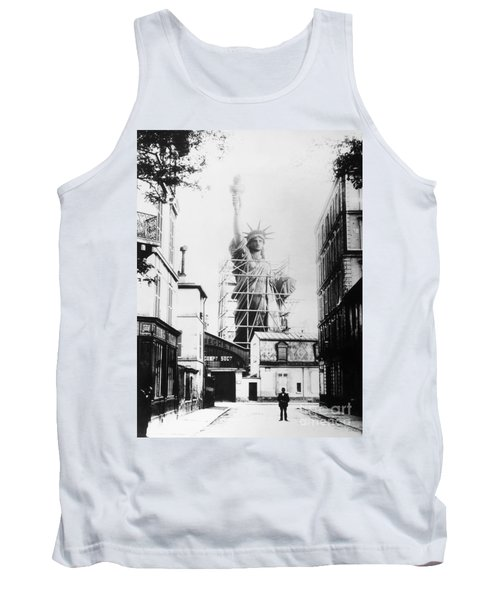 Statue Of Liberty, Paris Tank Top