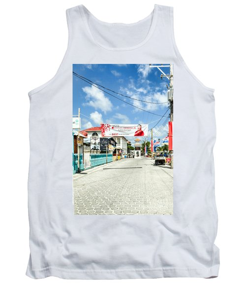 Street Scene Of San Pedro Tank Top by Lawrence Burry