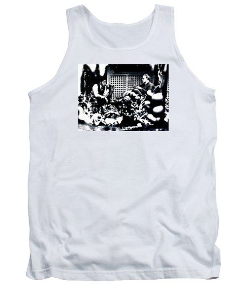 Tank Top featuring the painting The Godfather by Luis Ludzska