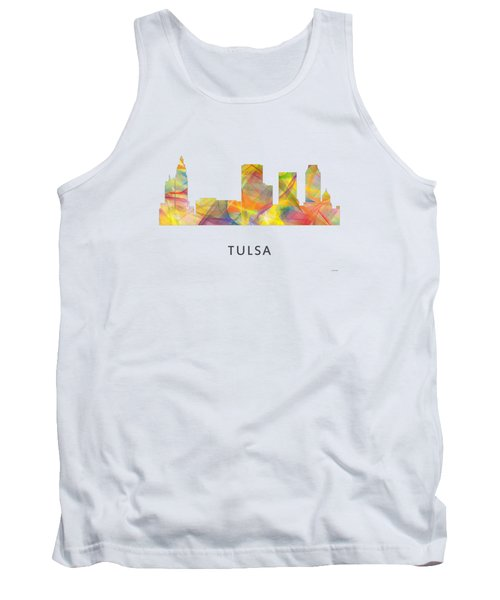 Tulsa Oklahoma Skyline Tank Top by Marlene Watson