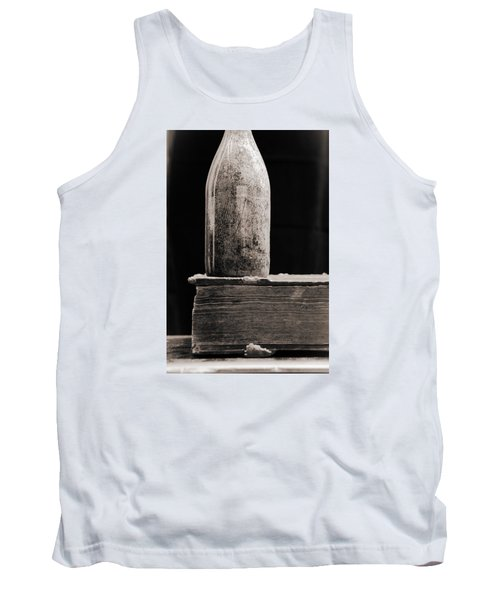 Tank Top featuring the photograph Vintage Beer Bottle #00803 by Andrey  Godyaykin