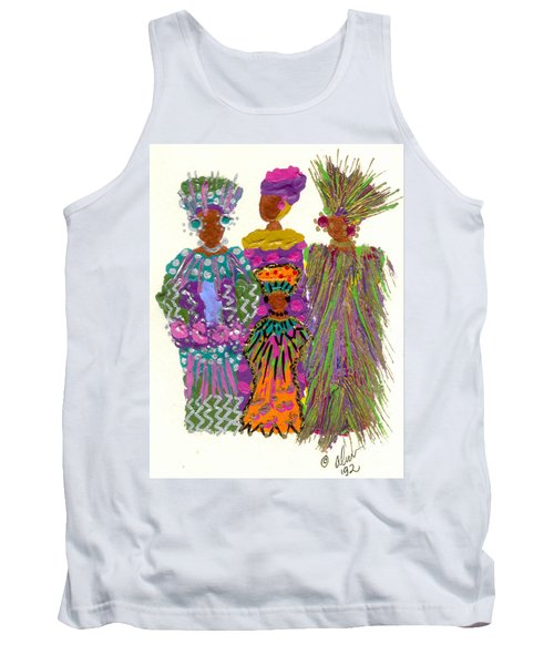 Tank Top featuring the mixed media 3rd Generation - We Women Folk by Angela L Walker