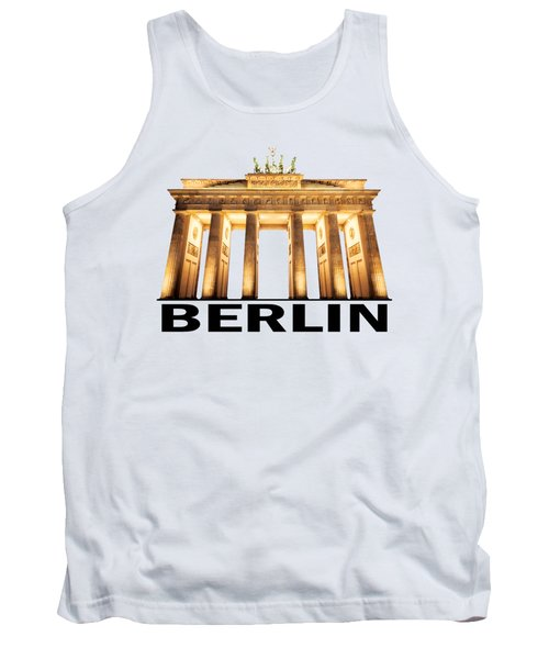 Brandenburg Gate Tank Top by Julie Woodhouse