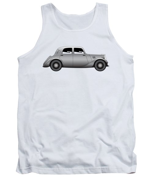 Tank Top featuring the digital art Coupe - Vintage Model Of Car by Michal Boubin