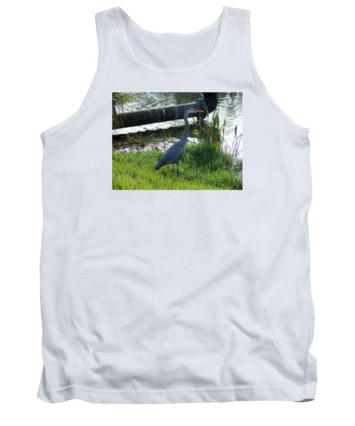 Tank Top featuring the photograph Great Blue Heron by Kay Gilley