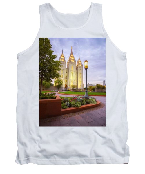 Tank Top featuring the photograph Salt Lake Temple by Dustin  LeFevre