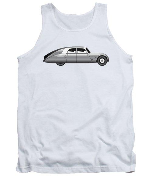 Tank Top featuring the digital art Sedan - Vintage Model Of Car by Michal Boubin