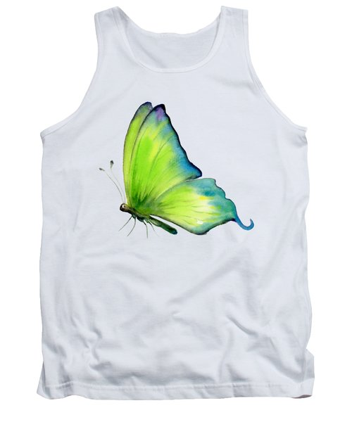 4 Skip Green Butterfly Tank Top by Amy Kirkpatrick