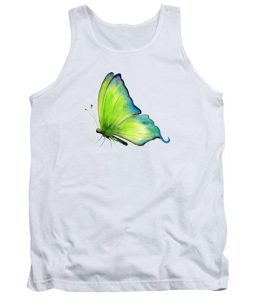 4 Skip Green Butterfly Tank Top