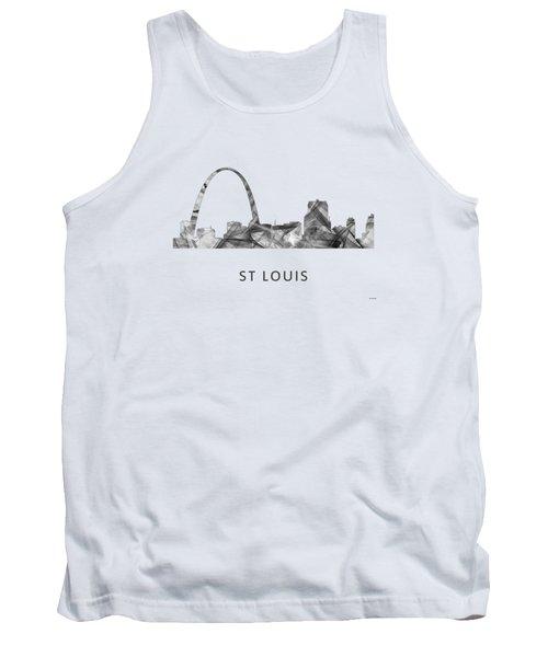 St Louis Missouri Skyline Tank Top by Marlene Watson