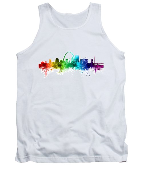 St Louis Missouri Skyline Tank Top
