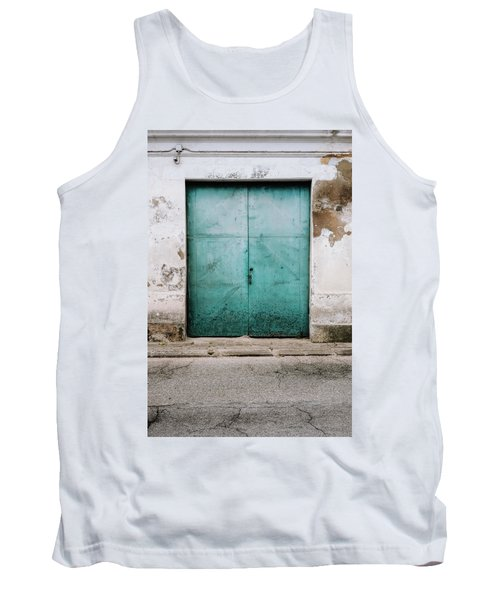 Tank Top featuring the photograph Door With No Number by Marco Oliveira