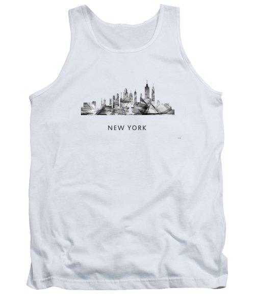 New York New York Skyline Tank Top by Marlene Watson