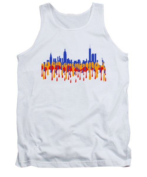 New York Ny Skyline Tank Top