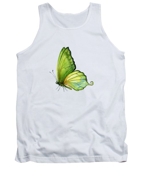 5 Sap Green Butterfly Tank Top by Amy Kirkpatrick