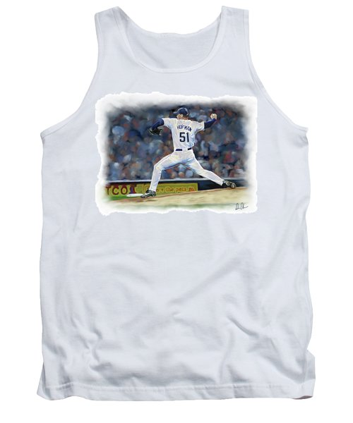 Tank Top featuring the photograph Trevor Hoffman by Don Olea