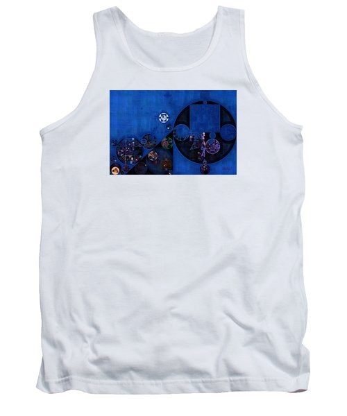 Tank Top featuring the digital art Abstract Painting - Onyx by Vitaliy Gladkiy