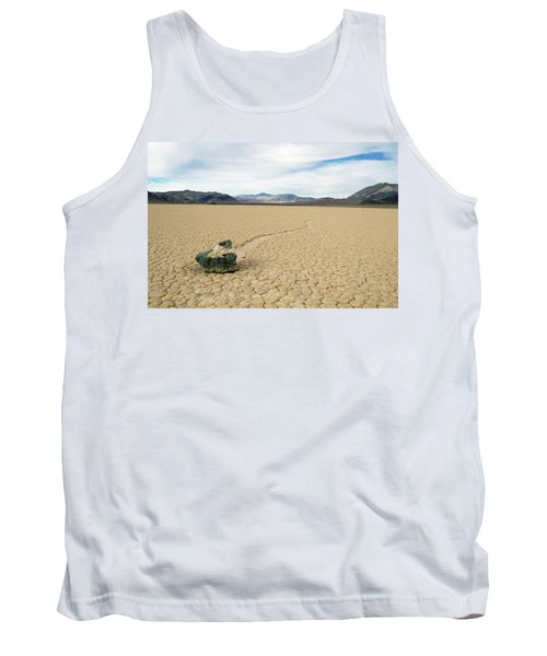 Tank Top featuring the photograph Death Valley Racetrack by Breck Bartholomew