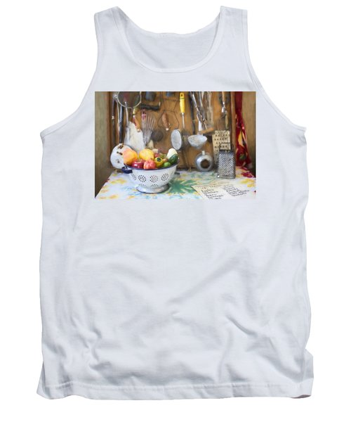 Tank Top featuring the digital art Home In The 20s by Jill Wellington