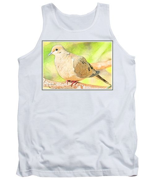 Mourning Dove Animal Portrait Tank Top